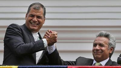 Una cámara oculta para espiar el despacho presidencial de Ecuador agrava la discordia entre Lenín Moreno y Rafael Correa