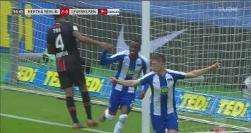 ¿Qué le pasa al Leverkusen? Piatek deja tirada a la zaga para que Lukebakio empuje el 2-0