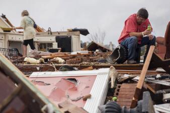 Fotos: tornados y tormentas dejan destrozos en Georgia, Florida y Mississippi