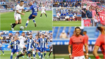 En fotos: el Sevilla de 'Chicharito' gana por un gol al Alavés