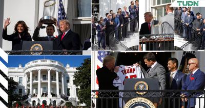 Donald Trump recibe a los Nationals en la Casa Blanca
