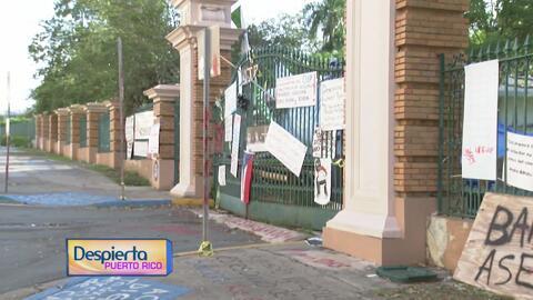 Los portones del recinto universitario de Río Piedras se mantienen cerrados tras más de 60 días de huelga indefinida