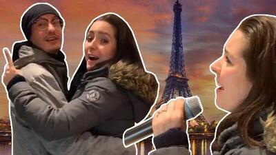 """""""Lo que me hacen hacer"""": Ariadne Díaz cantó música grupera en un restaurante libanés en París y bailó con un comensal"""