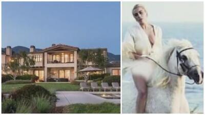 Conoce la mansión (con rancho incluido) donde murió el adorado caballo blanco de Lady Gaga