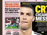 Messi rechazó el 'Jugar en Italia' challenge de Cristiano Ronaldo