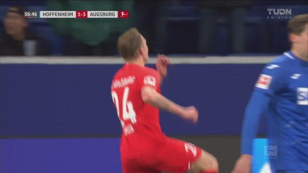 ¡Huele a goleada! Jensen consigue el tercero tanto del Augsburg con contragolpe