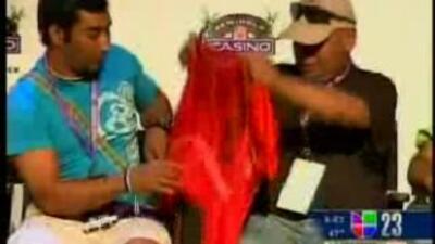 Los mineros chilenos visitan casino en el Sur de Florida