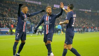 Neymar y Delort casi se van a las manos tras el triunfo del PSG