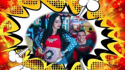 Edwin Luna y Kimberly Flores celebran el Día del Niño convertidos en superhéroes