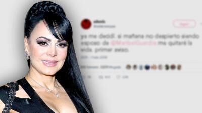 """Maribel Guardia llama """"esposo mío"""" a un seguidor en Twitter con tal de salvarle la vida"""