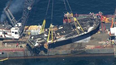 Localizan al último de los 34 cadáveres del barco que se quemó frente a una isla de California en Labor Day