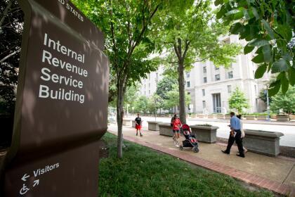 The Internal Revenue Service Building, Wednesday, Aug. 19, 2015, in Washington. (AP Photo/Andrew Harnik)