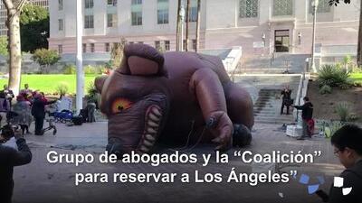 ¿'Gigantesca rata' el símbolo de un caso de corrupción en Los Ángeles?
