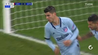 ¡GOOOL! Álvaro Morata anota para Atlético de Madrid