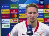 Luuk de Jong no tiene duda que le perdonaron un penalti al Borussia Dortmund