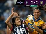 Tigres consigue un empate sobre el final y le impide la hazaña a Rayadas con 10 jugadoras