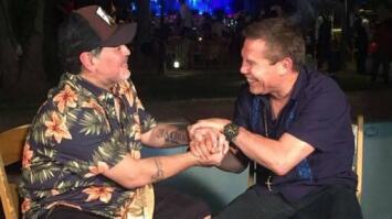 El pique entre Chávez y 'Travieso' por la muerte de Maradona