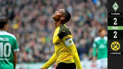 El Dortmund se deja alcanzar por el Bremen y le deja el camino al título al Bayern Múnich