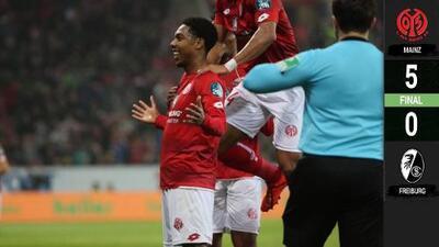 'Hat-trick' de Mateta para la goleada de escándalo del Mainz sobre el Freiburg