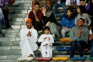 Soccer Football - Club World Cup - Final - Real Madrid v Al Ain - Zayed Sports City Stadium, Abu Dhabi, United Arab Emirates - December 22, 2018 Fans in the stadium before the match REUTERS/Andrew Boyers