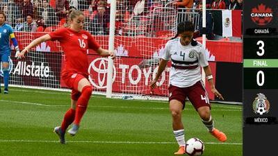 Sin sorpresas: Canadá venció a México en duelo amistoso femenil