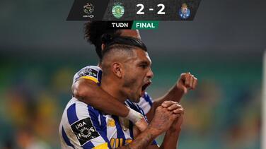 ¡Golazo de Tecatito! Sporting Lisboa le sacó el empate al Porto