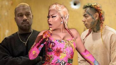 A balazos paralizan la grabación de un video de Kanye West, Tekashi 6ix9ine y Nicki Minaj