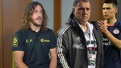 """Carles Puyol: """"Si 'Chucky' Lozano quiere crecer, debe ir a La Liga de España"""""""