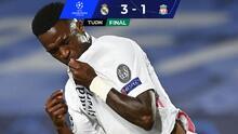 La gran noche de Vinícius, hace doblete para el 3-1 ante Liverpool