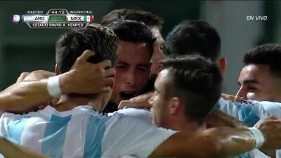 ¡GOOOL! Ramiro Funes Mori anota para Argentina