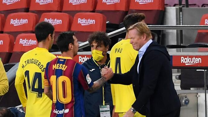 """Koeman no tiene """"ninguna queja"""" sobre Leo Messi"""