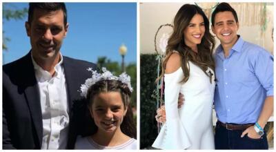 Gaby Espino y Cristóbal Lander celebraron la primera comunión de su hija
