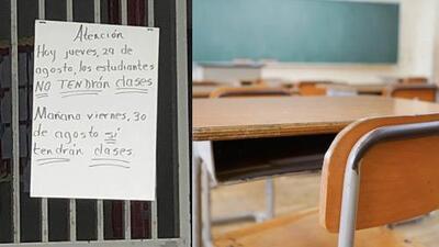 43 escuelas permanecieron cerradas y 9 todavía tenían refugiados en la mañana