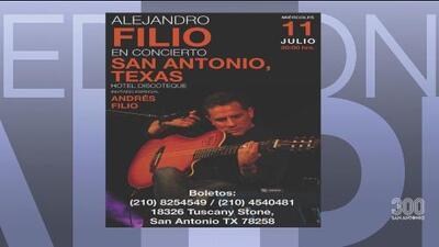Alejandro Filio celebra 30 años de trayectoria con un concierto en San Antonio