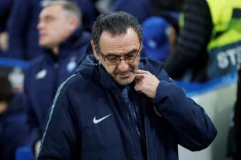 Las caras de Maurizio Sarri al saber que solo tiene la Europa League como salvación