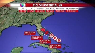 Está sería la trayectoria del posible ciclón que alcanzaría Florida en los próximos días