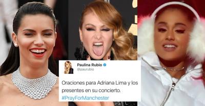 Para morir de risa: Paulina Rubio confunde a Ariana Grande con Adriana Lima e internet responde con lo que tiene: memes.