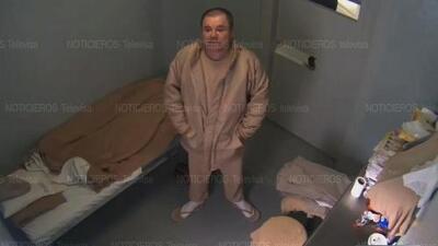 En video, los últimos instantes de 'El Chapo' Guzmán en la celda donde se encontraba recluido en México antes de ser extraditado