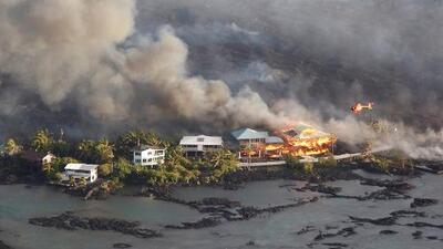 La lava del volcán Kilauea destruye cientos de casas en una sola noche