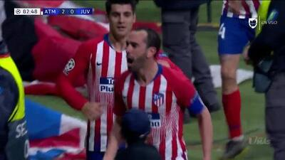 ¡GOOOL! Diego Godín anota para Atlético de Madrid