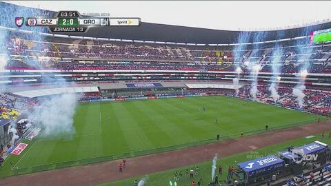 Caraglio le da el gol 10.000 al Estadio Azteca