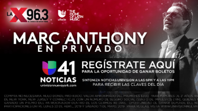 Gana un par de boletos para el concierto privado de Marc Anthony