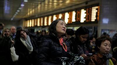 El sistema ferroviario de NY y NJ también se vio afectado por el paso de la tormenta invernal