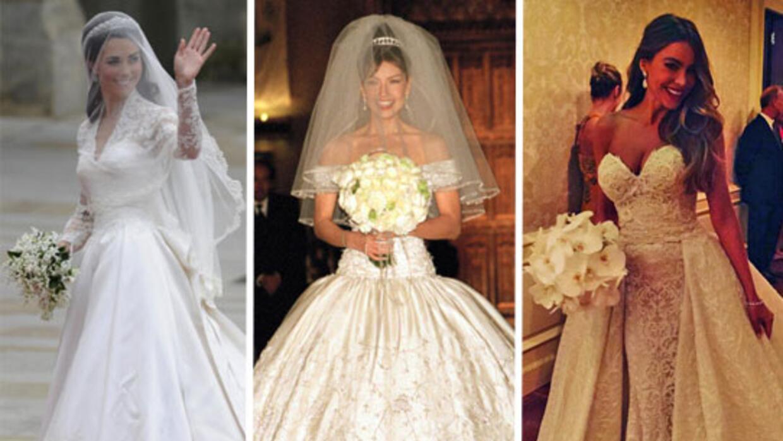 d43b257ba Los más bonitos vestidos de novia de las famosas
