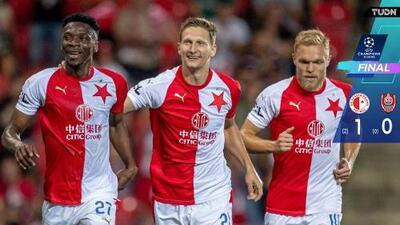 Slavia Praga 1-0 CFR Cluj - Gol y Resumen - Play-off - Vuelta Champions League