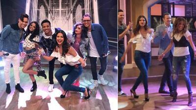 Detrás de cámaras: Karla y Ana Patricia demostraron que también pueden bailar como Mix5