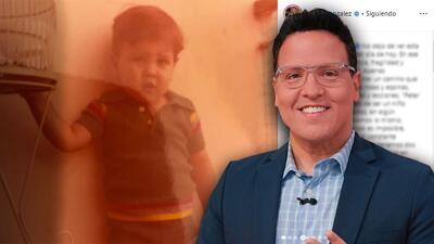 """Con una tierna foto de su infancia, Raúl González recordó el camino """"de rosas y espinas"""" que ha recorrido"""