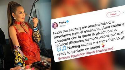 A Thalía nada le excita como los momentos previos a una de sus presentaciones