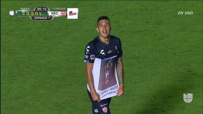 ¡GOOOL! Rodrigo Contreras anota para Necaxa