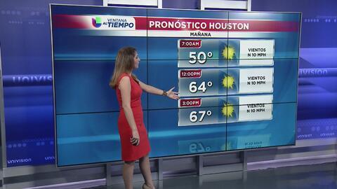 Ventana al Tiempo: Madrugada fresca este domingo en Houston sin pronóstico de lluvia